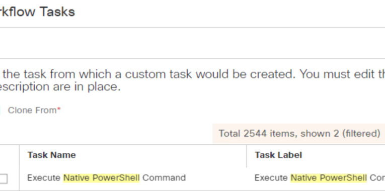 UCS Director – Creating a Custom Workflow Task for